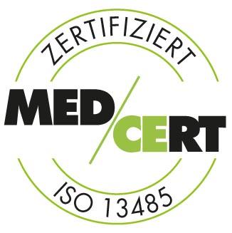 Logo Med/Cert zertifiziert ISO 13485